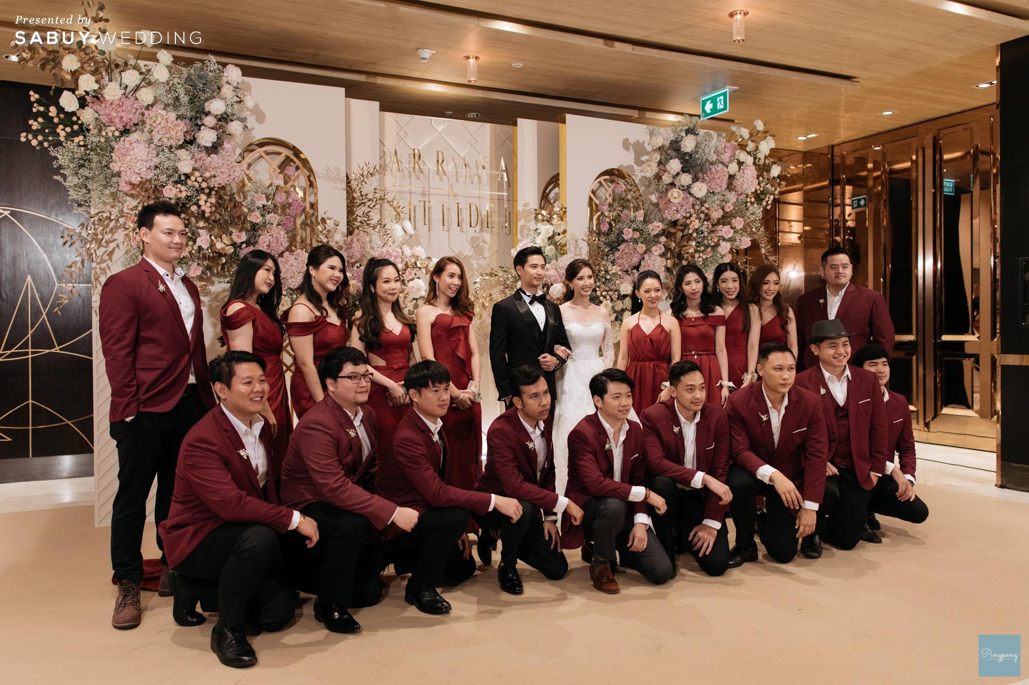 เจ้าบ่าว,เจ้าสาว,แต่งงาน,เพื่อนเจ้าสาว รีวิวงานแต่งโมเดิร์นหวานละมุน อบอุ่นในโทนครีมชมพู @ Hyatt Regency Bangkok Sukhumvit