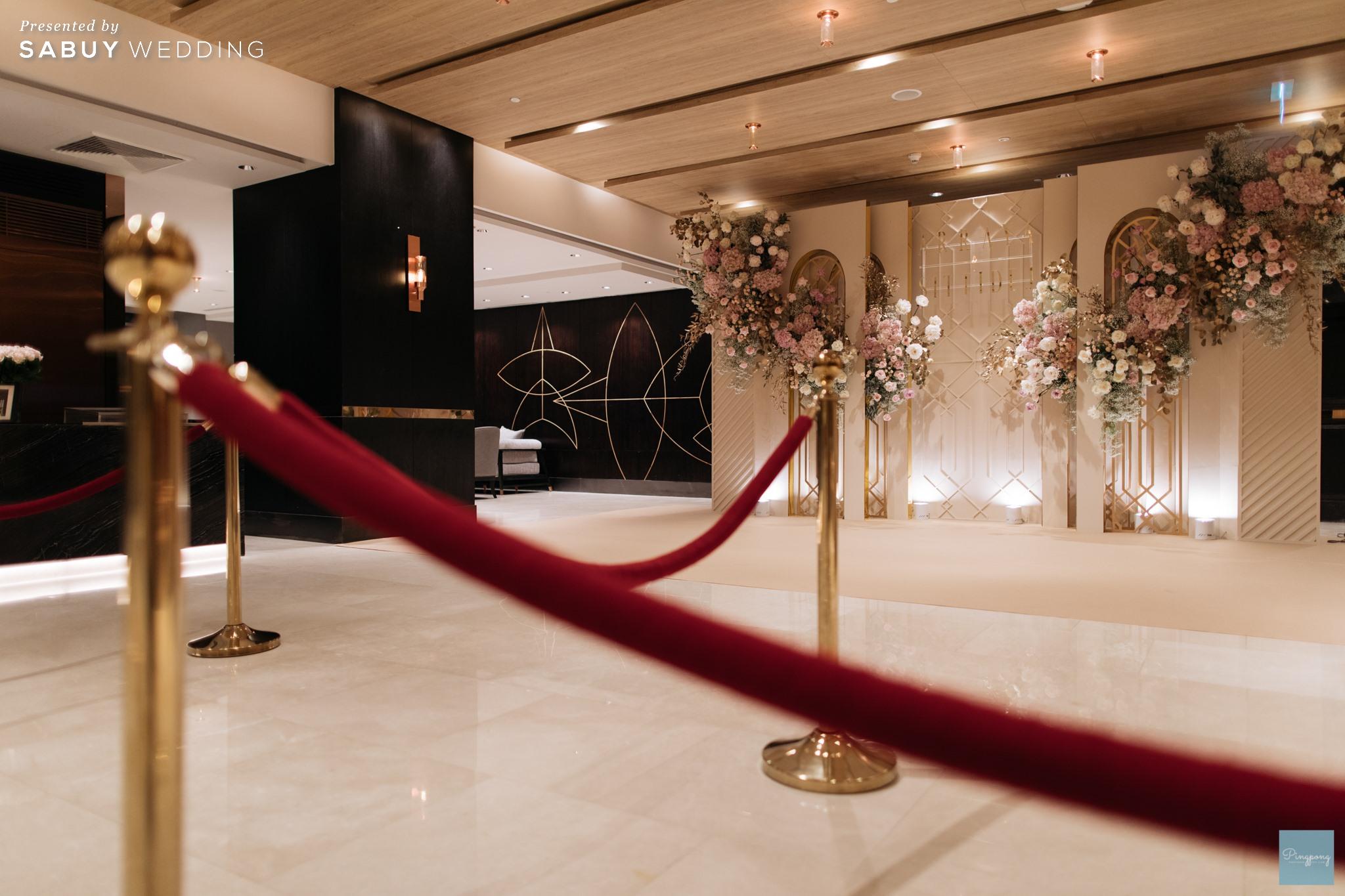 ตกแต่งงานแต่งงาน,ออแกไนเซอร์,เวดดิ้งแพลนเนอร์ รีวิวงานแต่งโมเดิร์นหวานละมุน อบอุ่นในโทนครีมชมพู @ Hyatt Regency Bangkok Sukhumvit