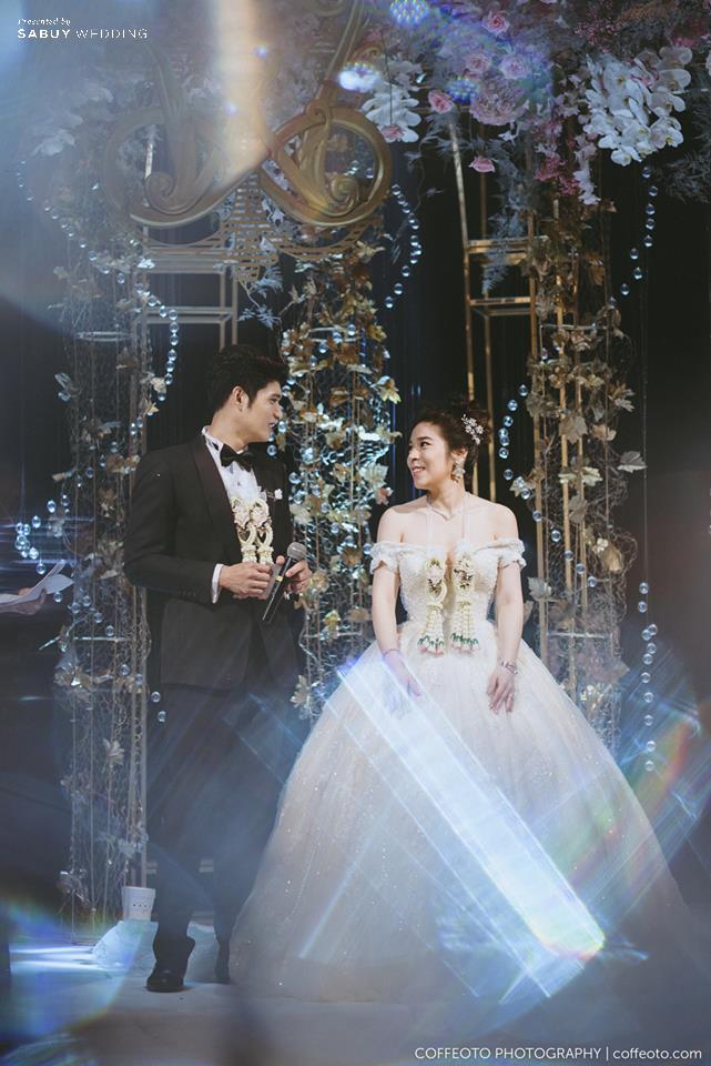 ชุดแต่งงาน,งานแต่งงาน รีวิวงานแต่งสวยปัง อลังกับชุดเจ้าสาว Glow in the dark เรืองแสงได้ @ InterContinental Bangkok