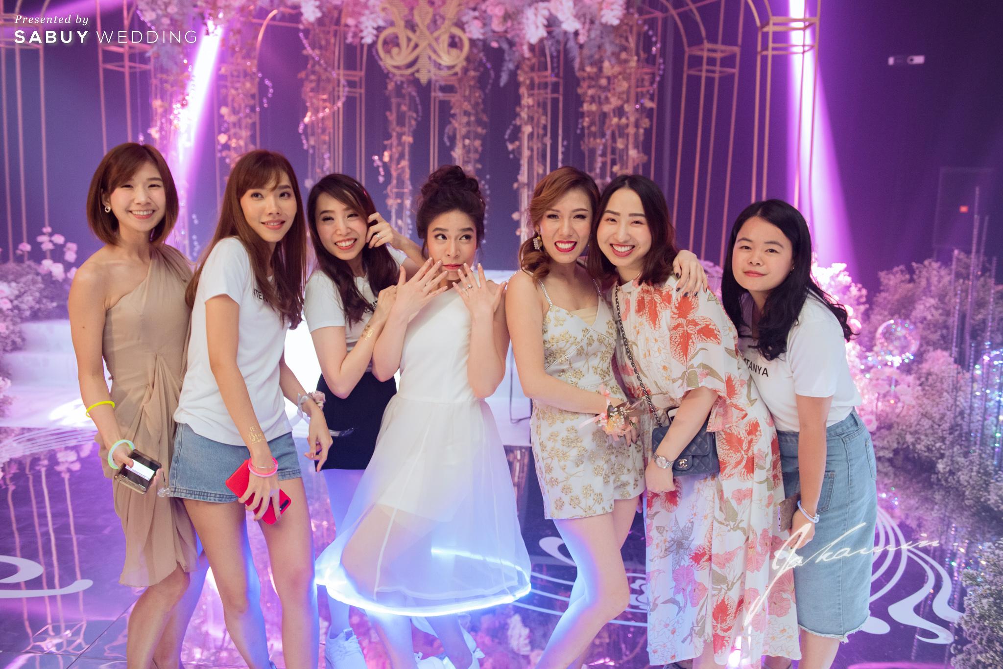 เจ้าบ่าว,เจ้าสาว รีวิวงานแต่งสวยปัง อลังกับชุดเจ้าสาว Glow in the dark เรืองแสงได้ @ InterContinental Bangkok