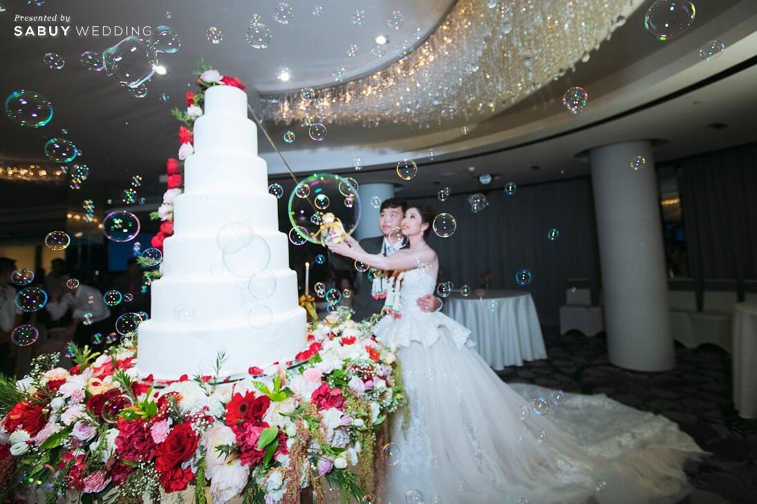 เจ้าบ่าว,เจ้าสาว,ชุดแต่งงาน รีวิวงานแต่งสวยปังดูแพง กับโทนสี Red Burgundy @ Chatrium Hotel Riverside Bangkok