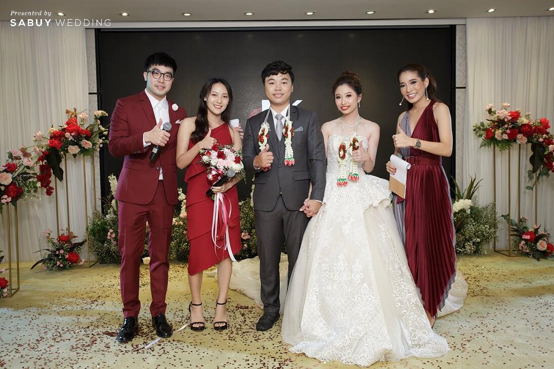 เจ้าบ่าว,เจ้าสาว,โรงแรมริมน้ำ,ชุดแต่งงาน รีวิวงานแต่งสวยปังดูแพง กับโทนสี Red Burgundy @ Chatrium Hotel Riverside Bangkok