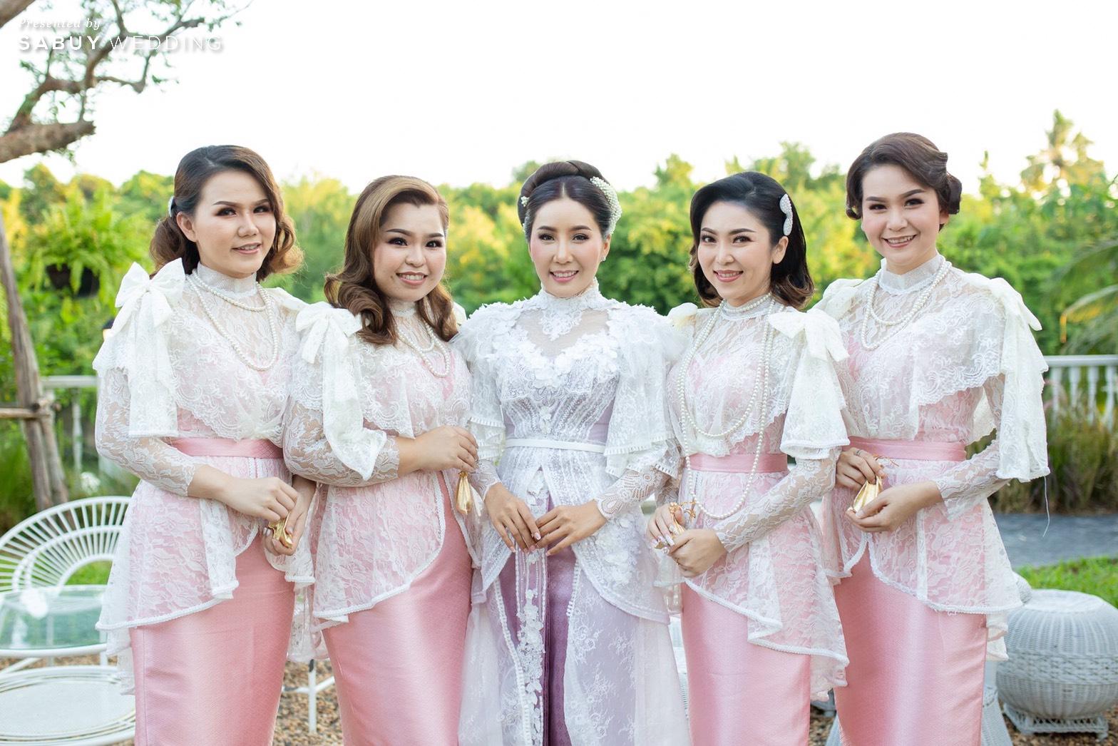 ชุดแต่งงาน,ชุดเพื่อนเจ้าสาว,ชุดเจ้าสาว รีวิวงานแต่งเสน่ห์ไทย ในสถานที่สไตล์โคโลเนียล @ House of Chandra