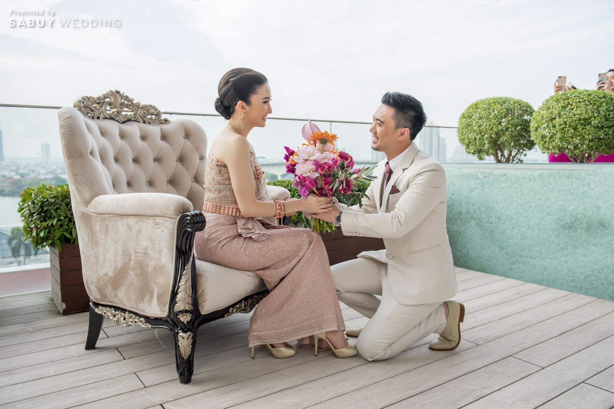 เจ้าบ่าว,เจ้าสาว,ชุดแต่งงาน,ช่อดอกไม้เจ้าสาว รีวิวงานแต่งแซ่บจี๊ดใจ สวยสดใสด้วยโทนสี Colorful @ AVANI+ Riverside Bangkok Hotel