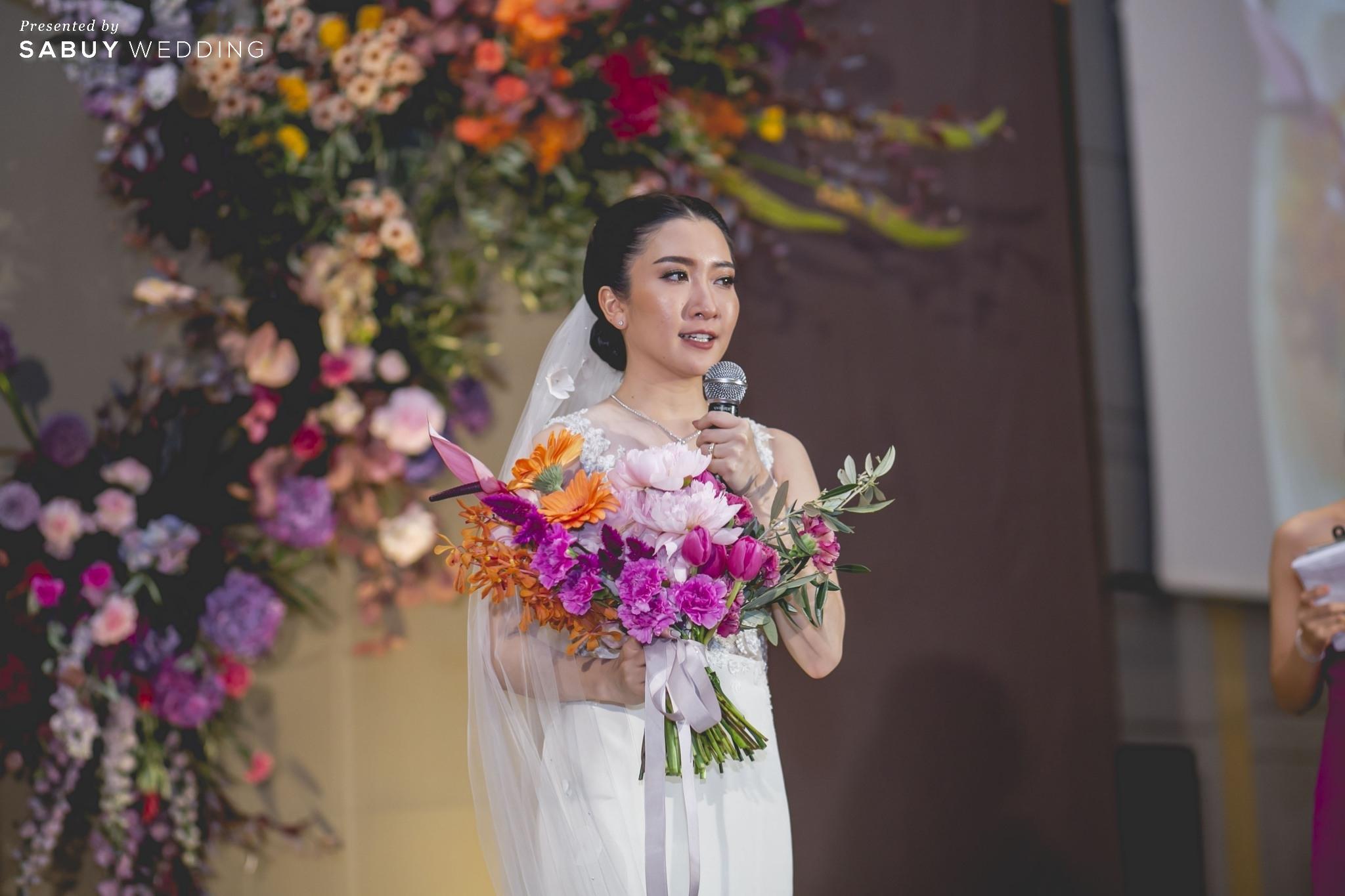 เจ้าสาว,ชุดแต่งงาน,ช่อดอกไม้เจ้าสาว รีวิวงานแต่งแซ่บจี๊ดใจ สวยสดใสด้วยโทนสี Colorful @ AVANI+ Riverside Bangkok Hotel