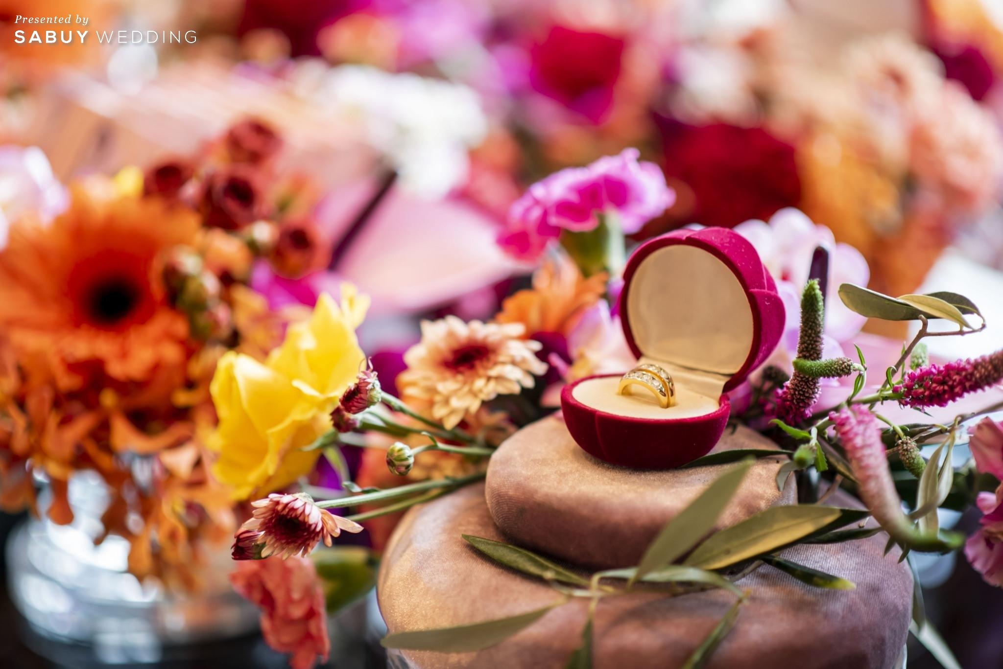 แหวนแต่งงาน รีวิวงานแต่งแซ่บจี๊ดใจ สวยสดใสด้วยโทนสี Colorful @ AVANI+ Riverside Bangkok Hotel