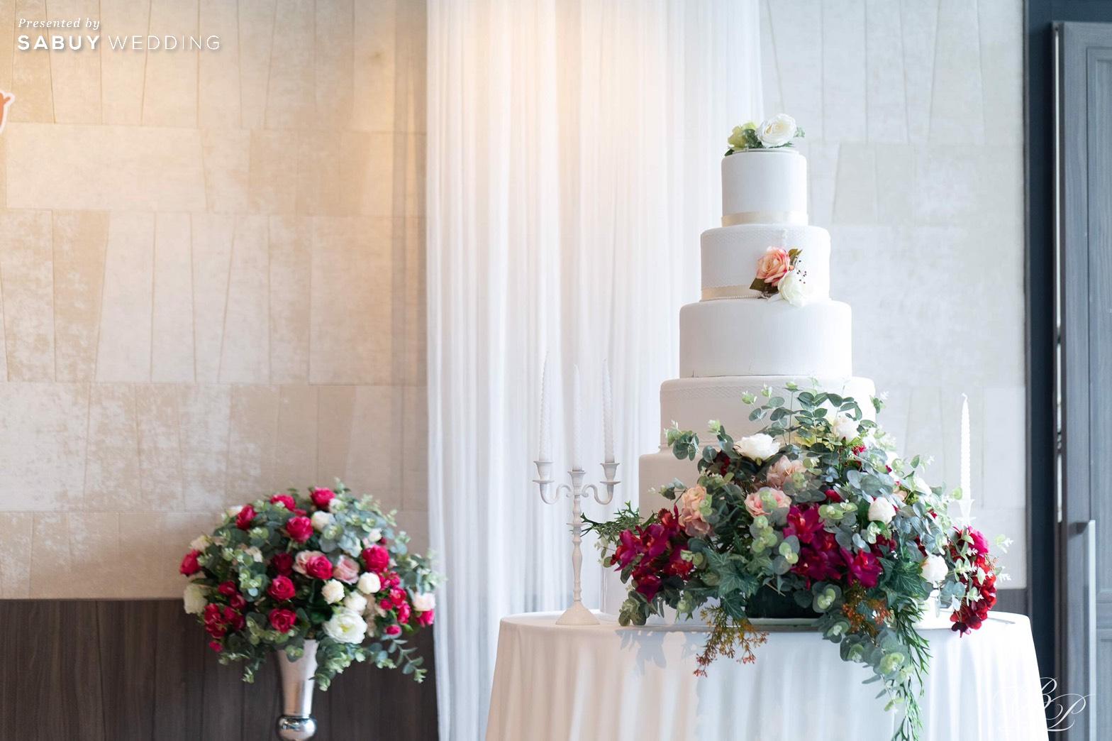 เค้กแต่งงาน รีวิวงานแต่ง Backdrop สวนสวย ด้วยห้องจัดเลี้ยงแสงธรรมชาติ @ Bliston Suwan Park View Hotel