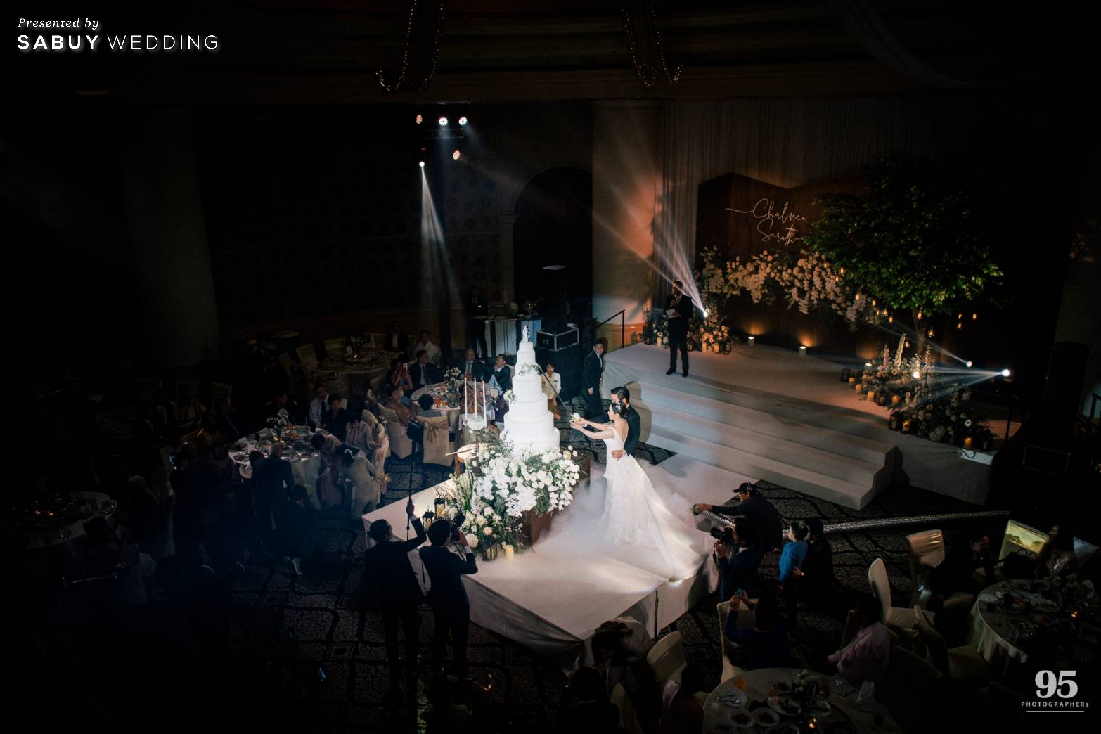 งานแต่งงาน รีวิวงานแต่งธีมสวนเรียบโก้ สไตล์ Elegant greenery garden @ Sheraton Grande Sukhumvit