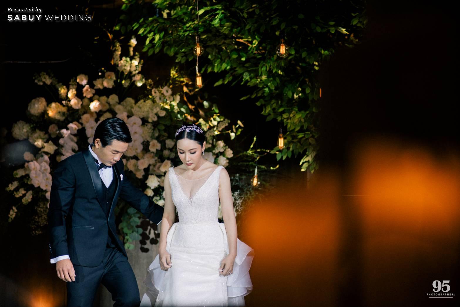 ชุดแต่งงาน,ชุดเจ้าสาว รีวิวงานแต่งธีมสวนเรียบโก้ สไตล์ Elegant greenery garden @ Sheraton Grande Sukhumvit