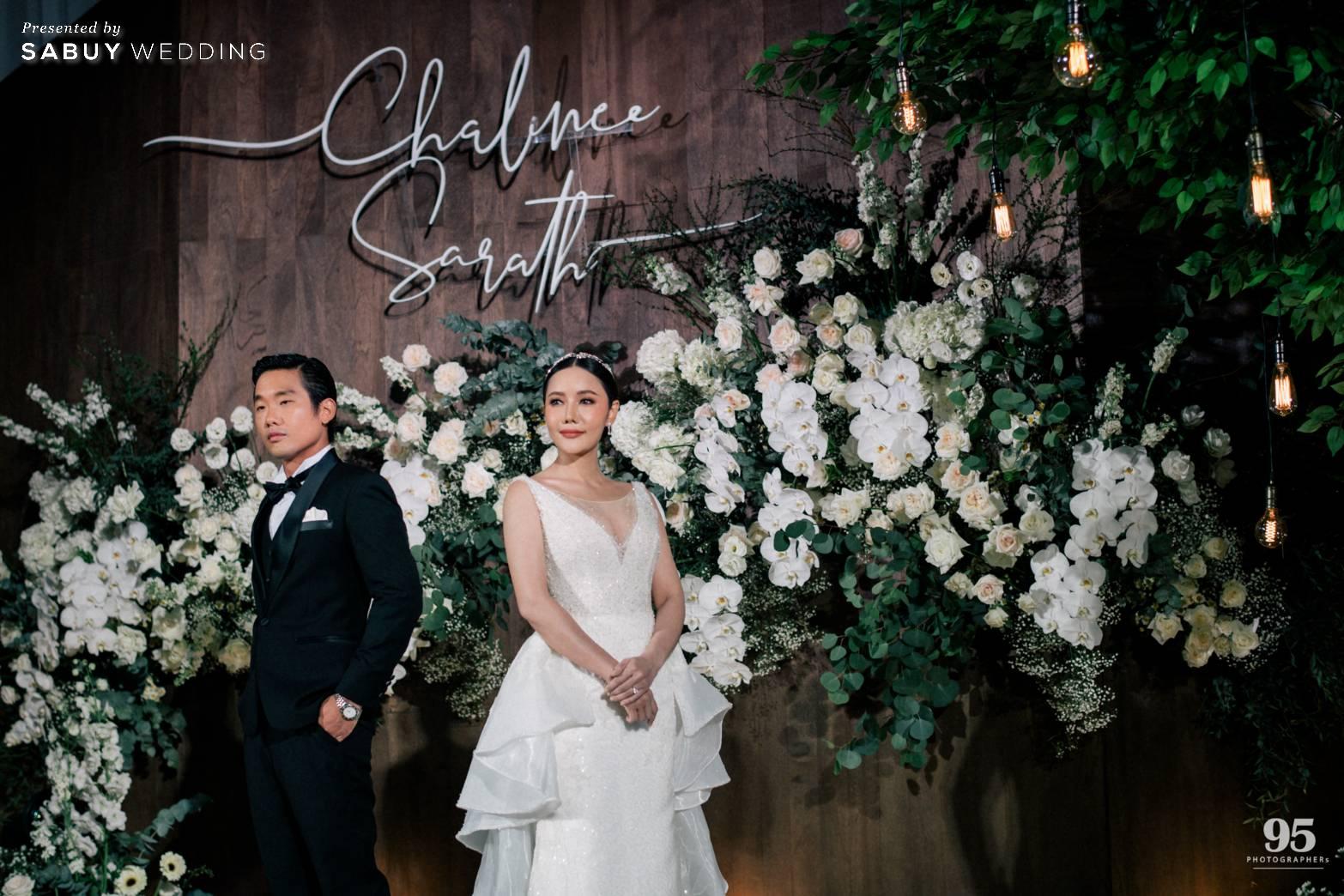 เจ้าสาว,เจ้าบ่าว,งานแต่งงาน,backdrop,ตกแต่งงานแต่ง รีวิวงานแต่งธีมสวนเรียบโก้ สไตล์ Elegant greenery garden @ Sheraton Grande Sukhumvit
