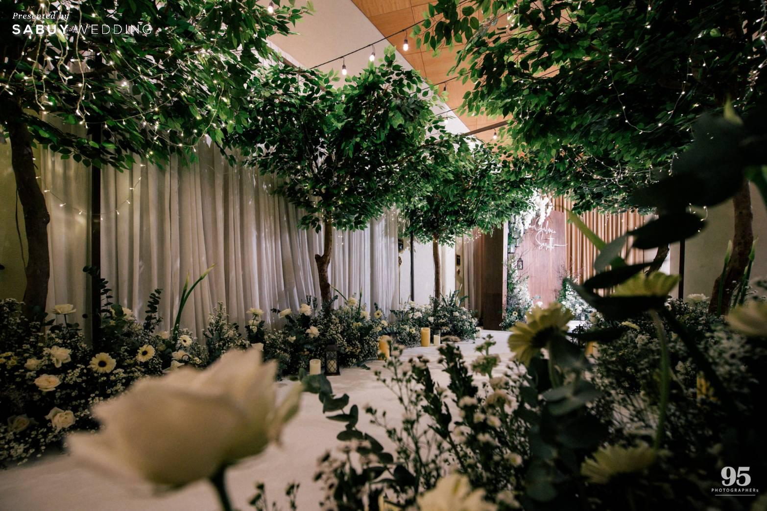ตกแต่งงานแต่งงาน,ออแกไนเซอร์,เวดดิ้งแพลนเนอร์ รีวิวงานแต่งธีมสวนเรียบโก้ สไตล์ Elegant greenery garden @ Sheraton Grande Sukhumvit