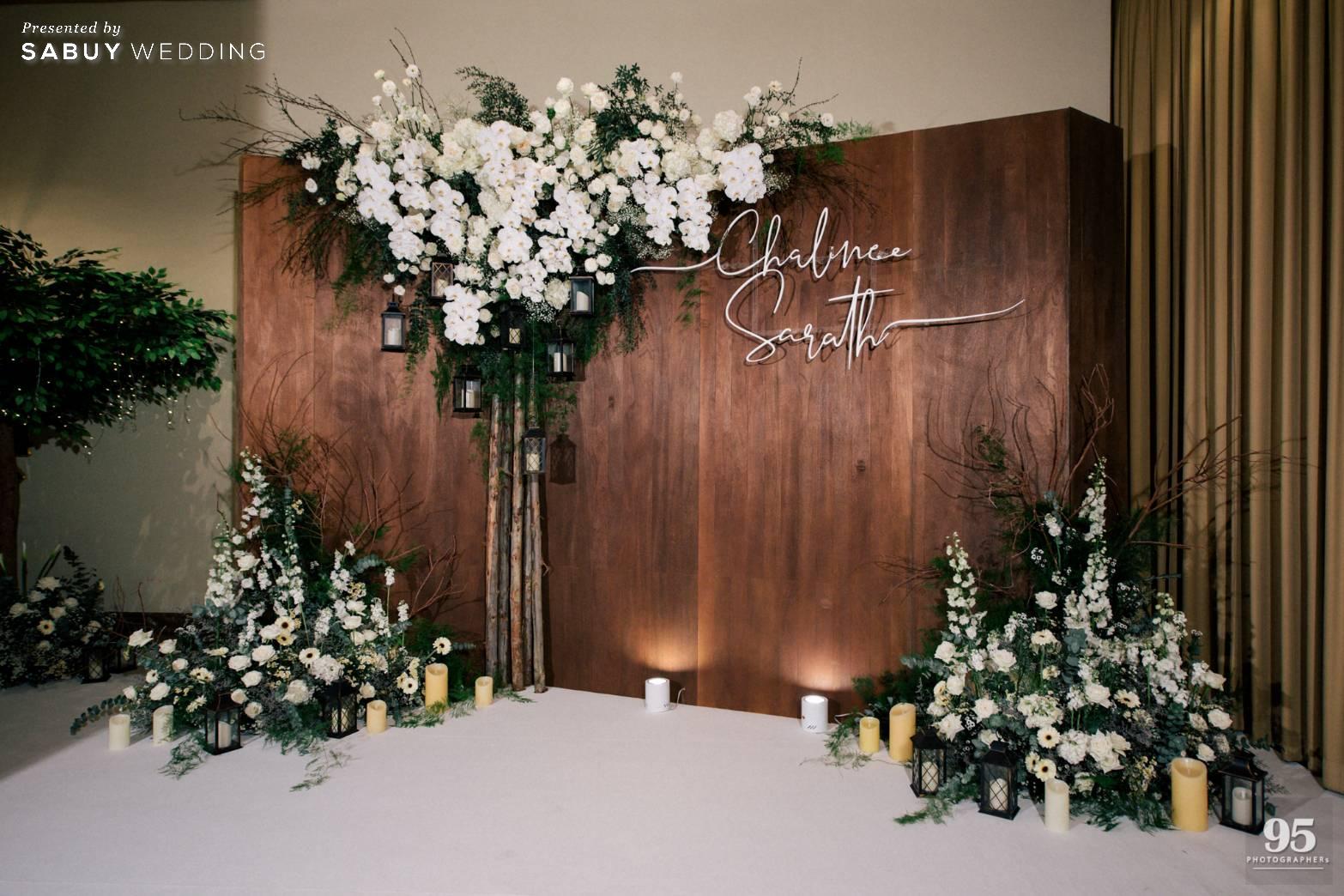 ตกแต่งงานแต่งงาน,ออแกไนเซอร์,เวดดิ้งแพลนเนอร์,backdrop รีวิวงานแต่งธีมสวนเรียบโก้ สไตล์ Elegant greenery garden @ Sheraton Grande Sukhumvit
