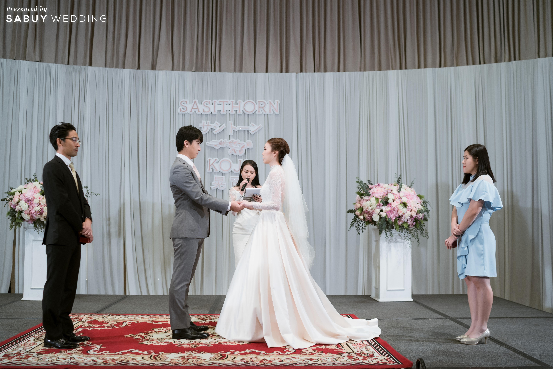 ชุดแต่งงาน  รีวิวงานแต่งสไตล์ไทยญี่ปุ่น หวานละมุนใจ @ Bangkok Marriott Hotel Sukhumvit