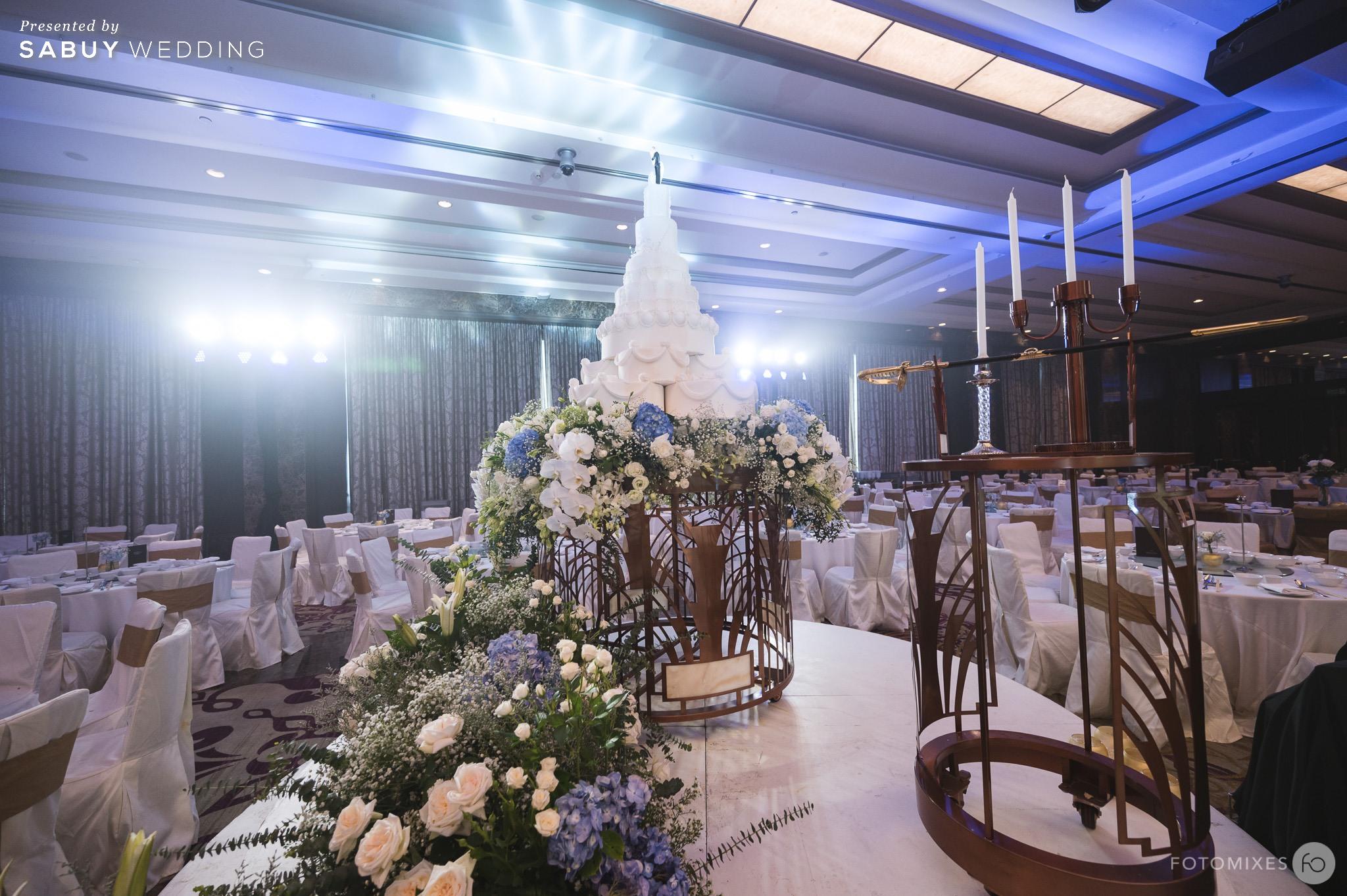 เค้กแต่งงาน รีวิวงานแต่งแสนหวานกับคอนเซ็ปต์งานสไตล์ English Garden @ Sofitel Bangkok Sukhumvit