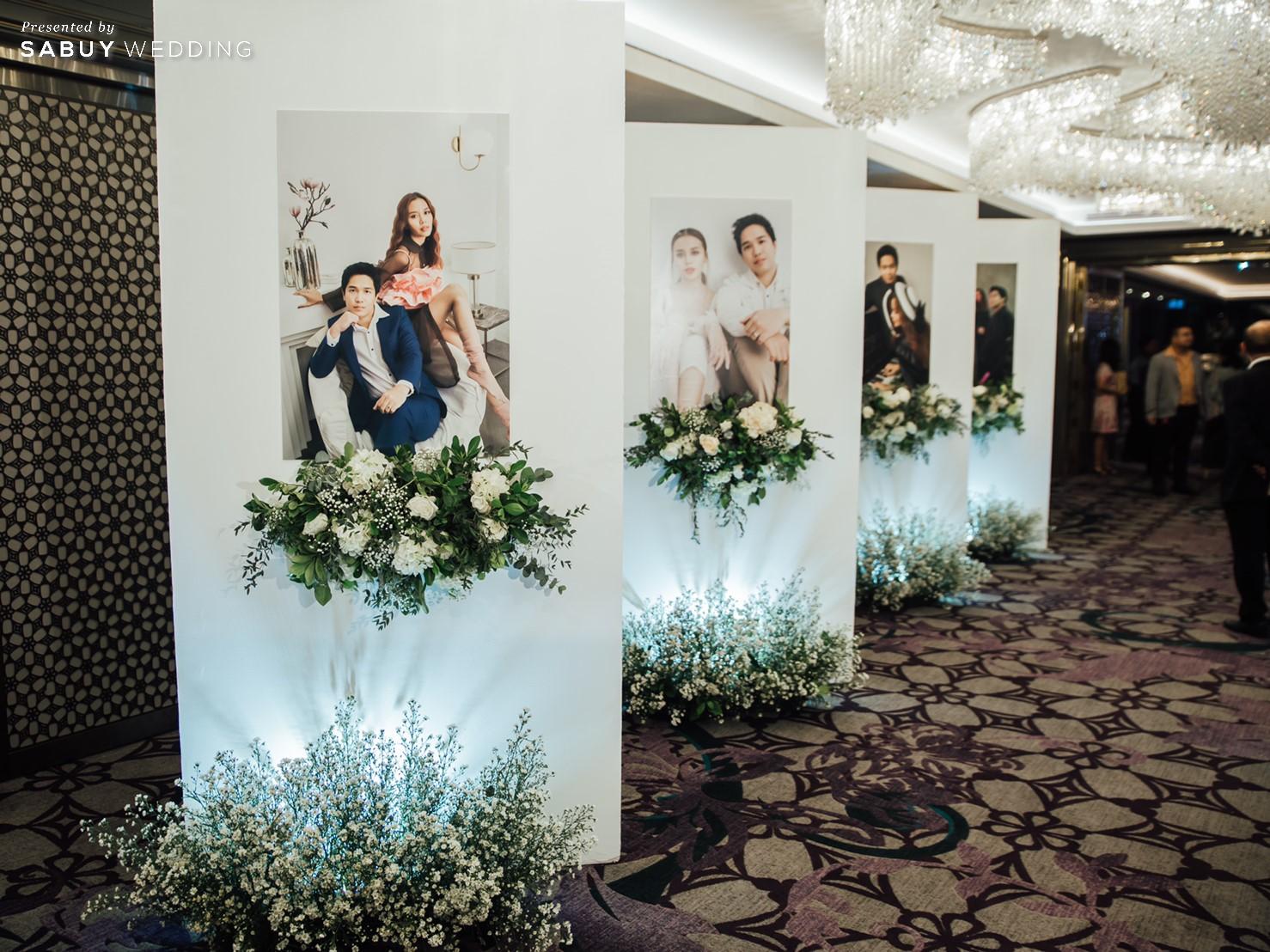 ตกแต่งงานแต่งงาน,พรีเวดดิ้ง รีวิวงานแต่งริมน้ำสุดอบอุ่น สวยละมุนในโทนขาวเขียว @ Chatrium Hotel Riverside Bangkok