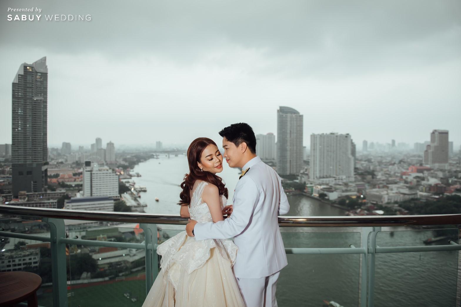 เจ้าบ่าว,เจ้าสาว,แต่งงาน,สถานที่แต่งงานริมน้ำ,โรงแรม รีวิวงานแต่งริมน้ำสุดอบอุ่น สวยละมุนในโทนขาวเขียว @ Chatrium Hotel Riverside Bangkok