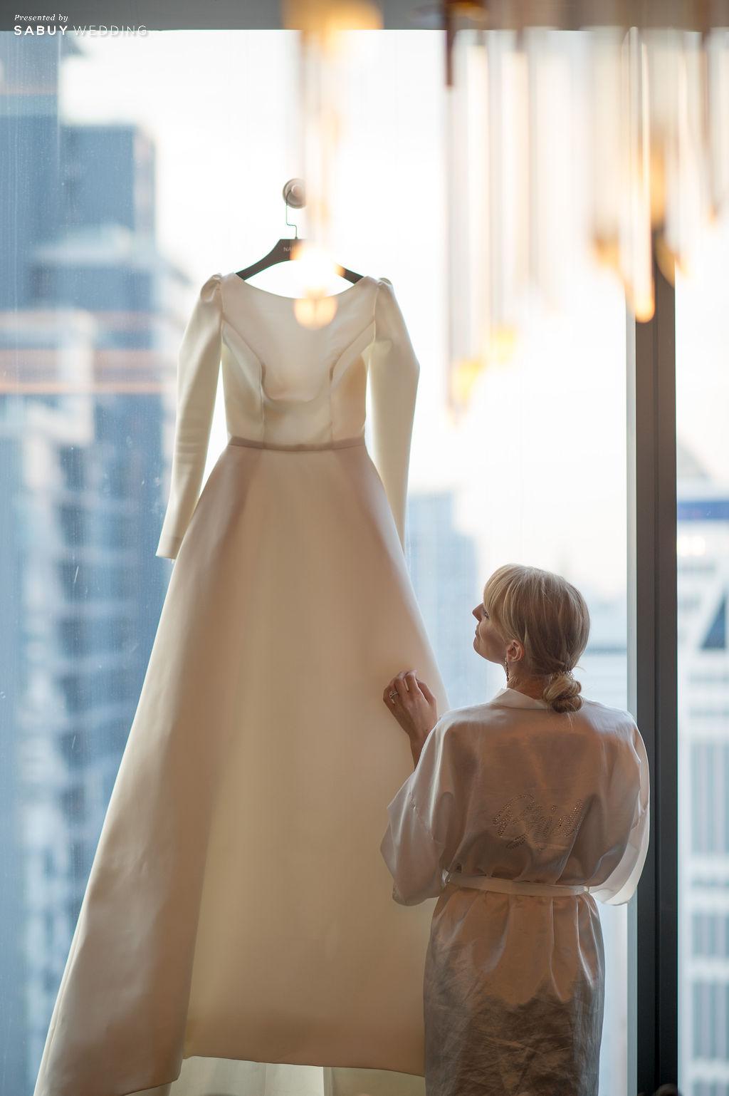 """ชุดแต่งงาน,ร้านชุดแต่งงาน รีวิวงานแต่ง """"บอย พิษณุ"""" สุดหวาน จำลองงานที่สวีเดนจัดเต็ม @ Hyatt Regency Bangkok Sukhumvit"""