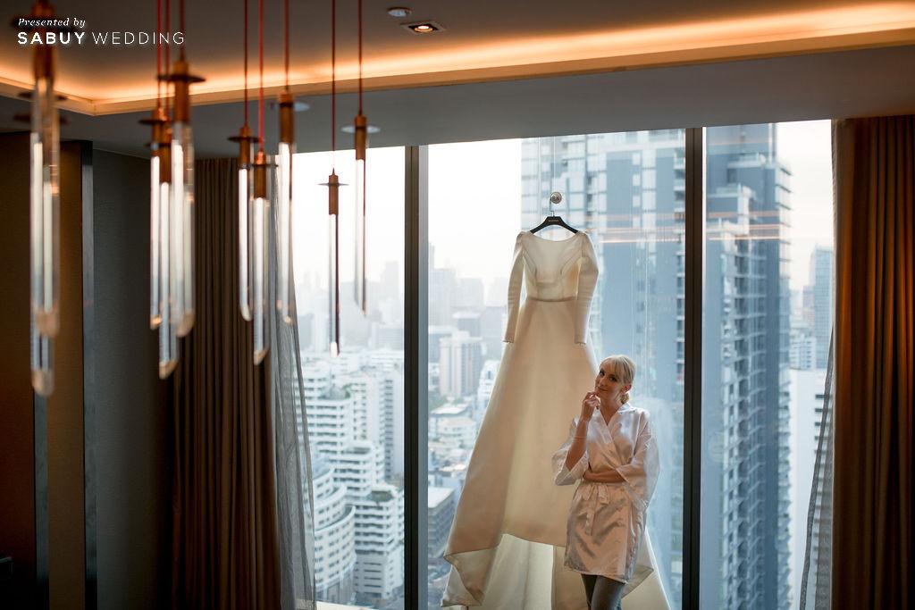 """ร้านชุดแต่งงาน รีวิวงานแต่ง """"บอย พิษณุ"""" สุดหวาน จำลองงานที่สวีเดนจัดเต็ม @ Hyatt Regency Bangkok Sukhumvit"""