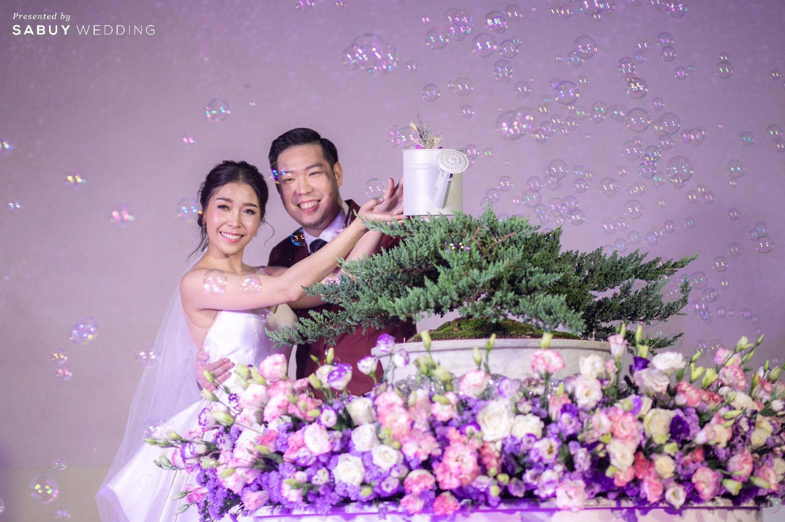 ชุดแต่งงาน,บับเบิ้ล,ต้นไม้ รีวิวงานแต่ง Minimal in Lavender เก๋ไม่ซ้ำใครสไตล์ Go Green @ SO/BANGKOK