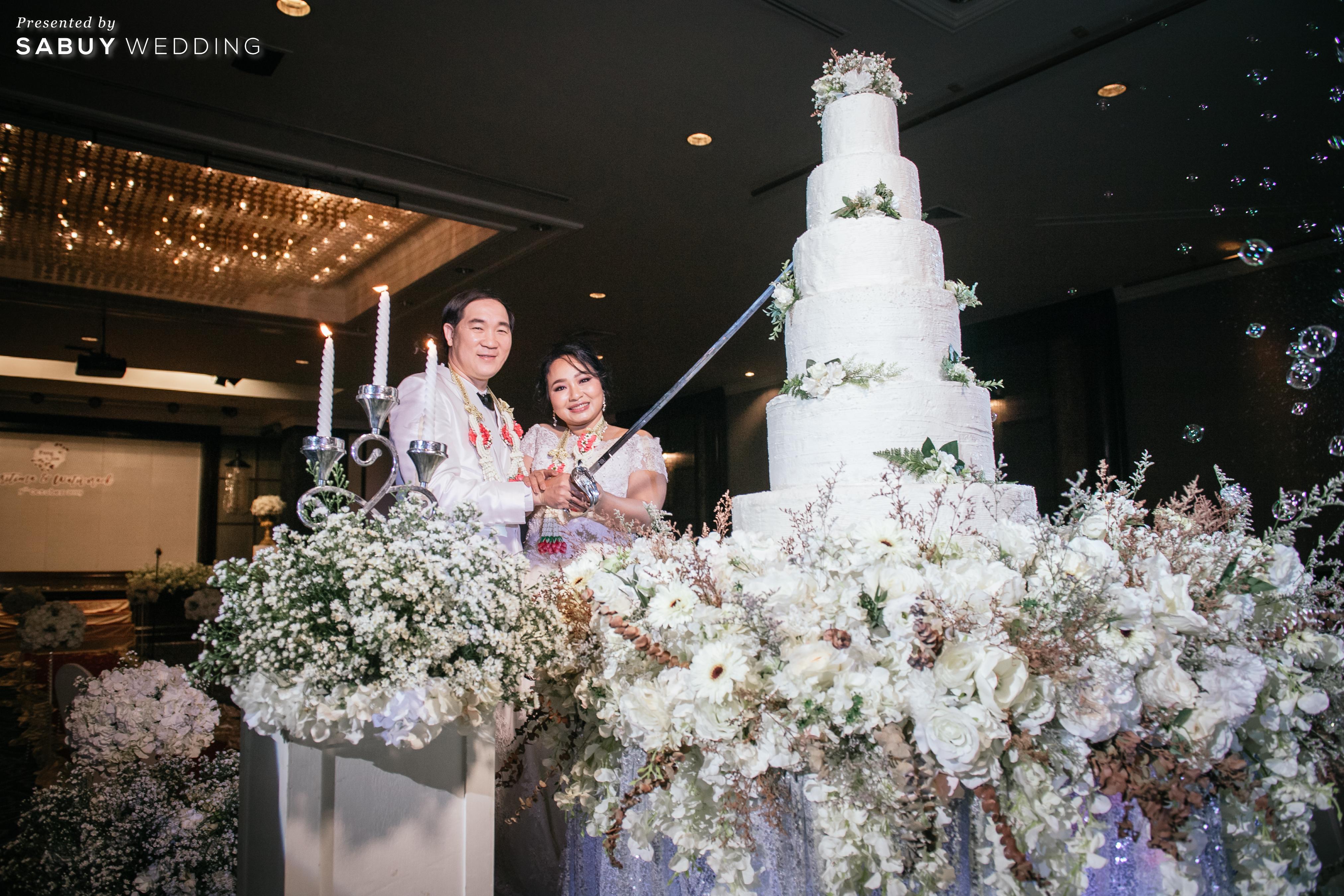 เค้กแต่งงาน,บับเบิ้ล,ชุดแต่งงาน,สถานที่แต่งงาน รีวิวงานแต่งสุดคลาสสิก กับกิมมิคแจกของรางวัล @ Narai Hotel