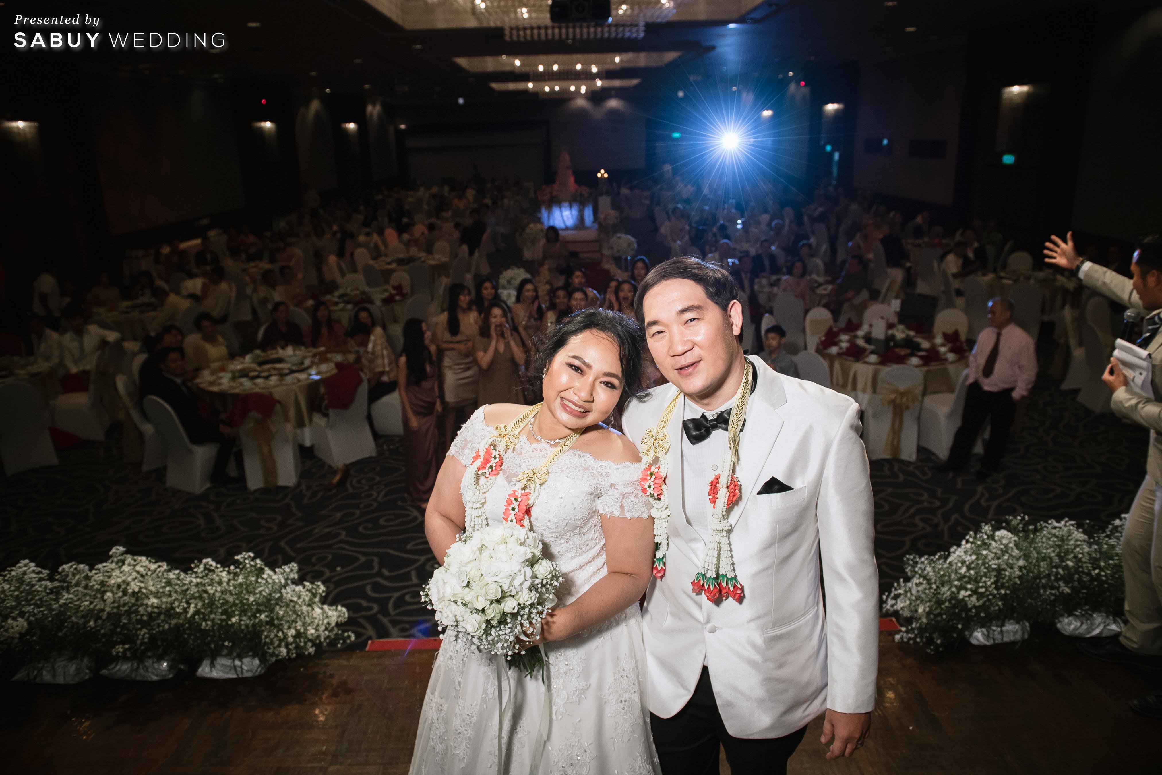 ชุดแต่งงาน,ช่อดอกไม้,พิธีกรงานแต่ง,โรงแรม รีวิวงานแต่งสุดคลาสสิก กับกิมมิคแจกของรางวัล @ Narai Hotel