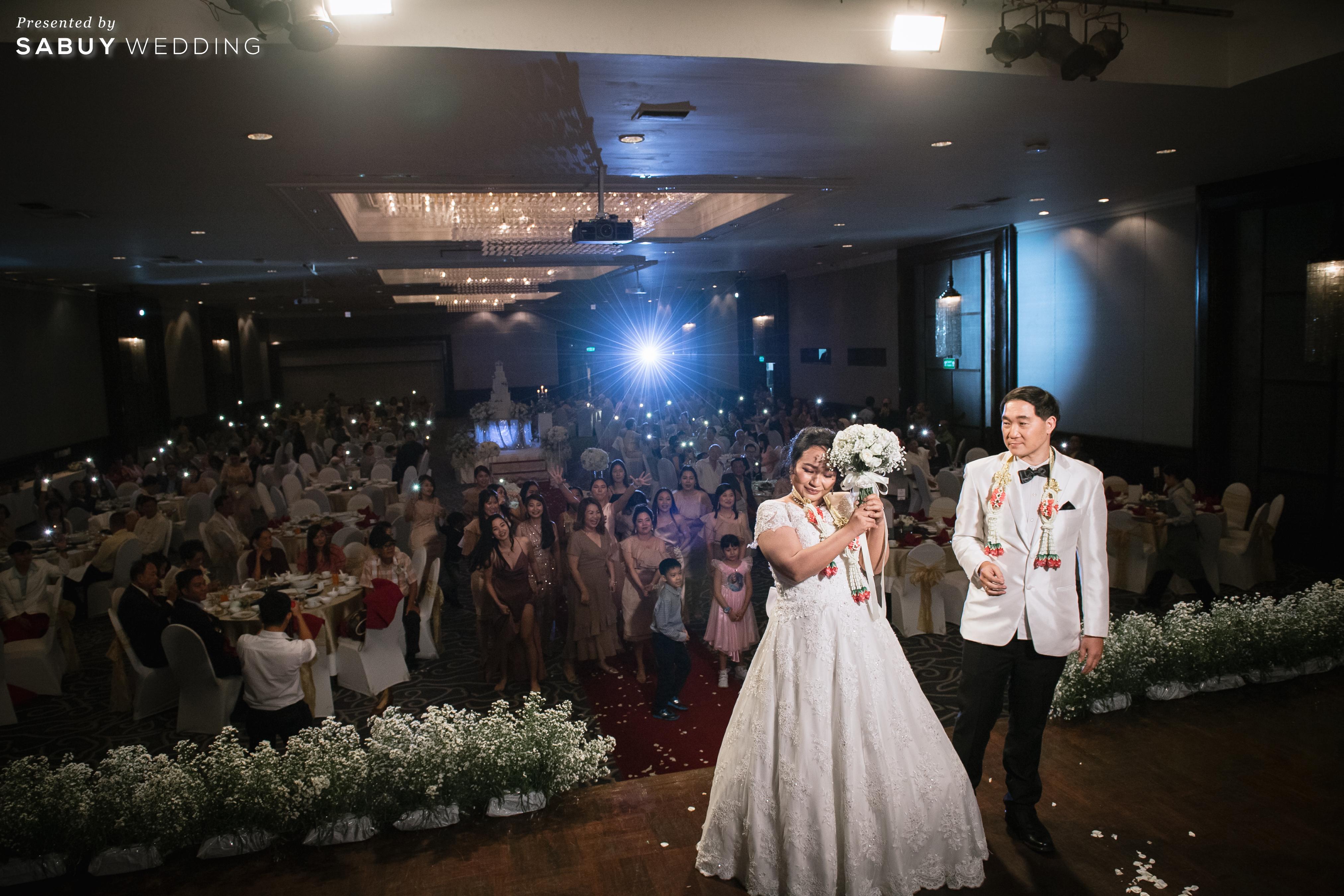 ชุดแต่งงาน, ช่อดอกไม้, สถานที่แต่งงาน, โรงแรม รีวิวงานแต่งสุดคลาสสิก กับกิมมิคแจกของรางวัล @ Narai Hotel