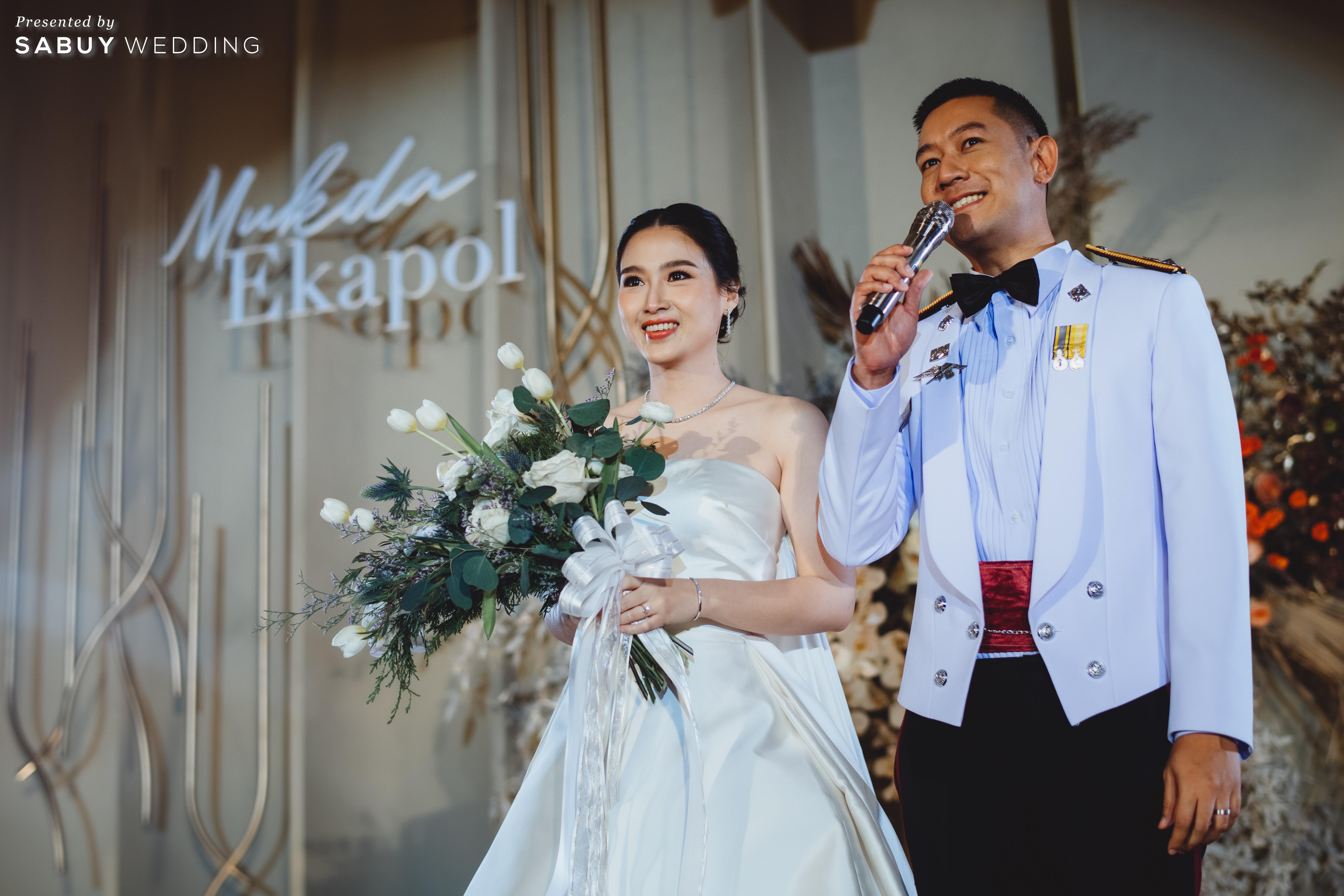 เจ้าสาว,แต่งงาน,ดอกไม้เจ้าสาว รีวิวงานแต่งโทนสีแชมเปญ สวยเรียบหรู ดูโมเดิร์น @ Sofitel Bangkok Sukhumvit
