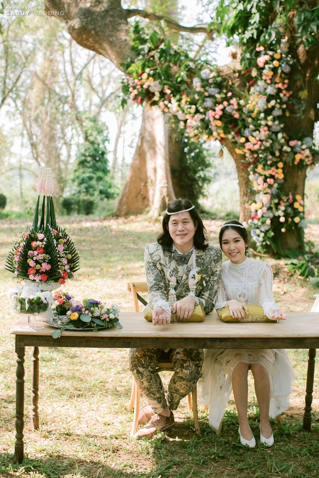 พานขันหมาก,ชุดบ่าวสาว,สถานที่จัดงานแต่งงาน,พวงมาลัยคล้องคอ รีวิวงานแต่ง Outdoor บรรยากาศอบอุ่น ดีไซน์คุมธีมธรรมชาติ @ Lampang River Lodge