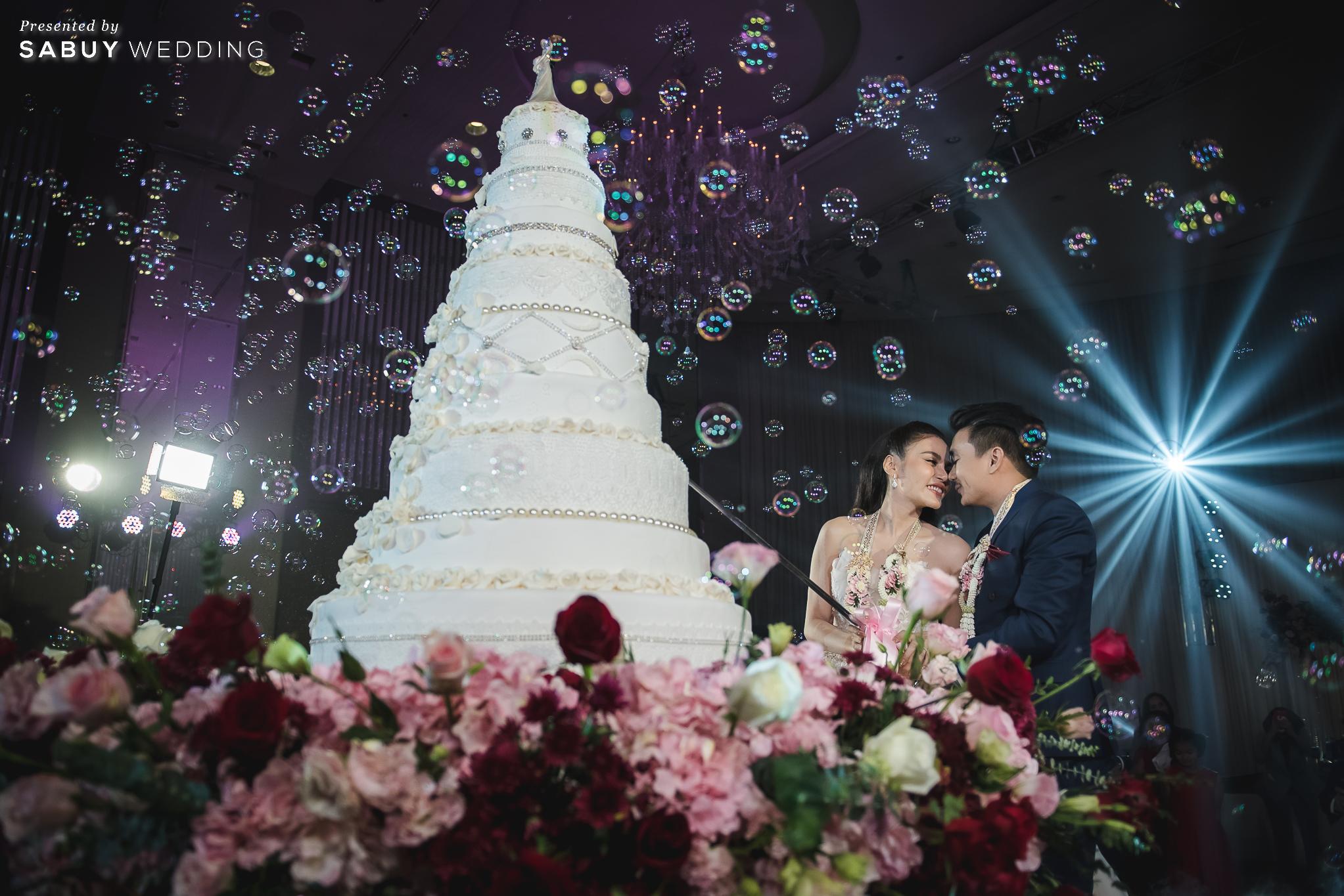 เค้กแต่งงาน, ชุดบ่าวสาว, dryicebubble รีวิวงานแต่งสุดประทับใจ เซอร์ไพรส์ After Party ด้วยเพลงยอดฮิต @ Bangkok Marriott Hotel Sukhumvit