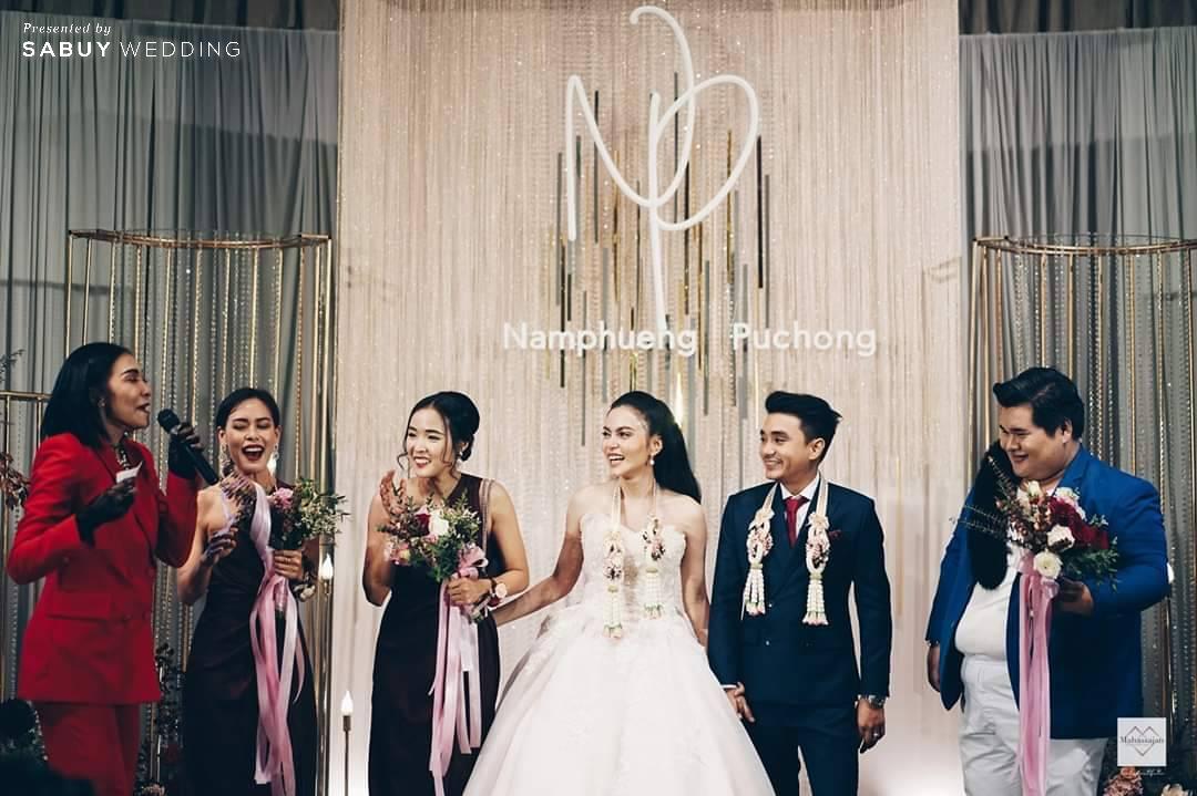 backdrop, ชุดเจ้าสาว, ชุดเจ้าบ่าว, สถานที่จัดงานแต่งงาน, ช่อดอกไม้ รีวิวงานแต่งสุดประทับใจ เซอร์ไพรส์ After Party ด้วยเพลงยอดฮิต @ Bangkok Marriott Hotel Sukhumvit