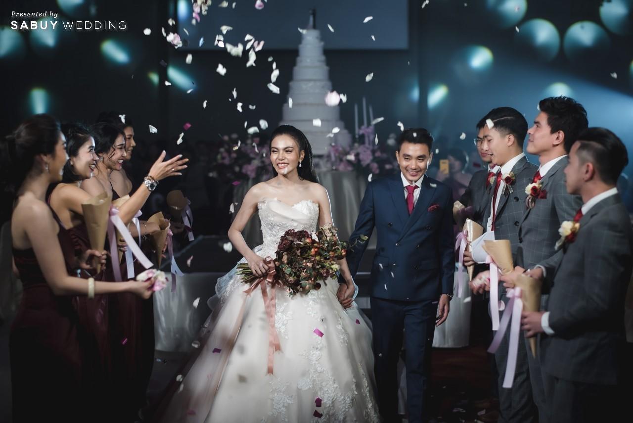 สถานที่จัดงานแต่งงาน, ชุดบ่าวสาว, เค้กแต่งงาน, กรวยดอกไม้, ช่อดอกไม้, ชุดเพื่อนบ่าวสาว รีวิวงานแต่งสุดประทับใจ เซอร์ไพรส์ After Party ด้วยเพลงยอดฮิต @ Bangkok Marriott Hotel Sukhumvit