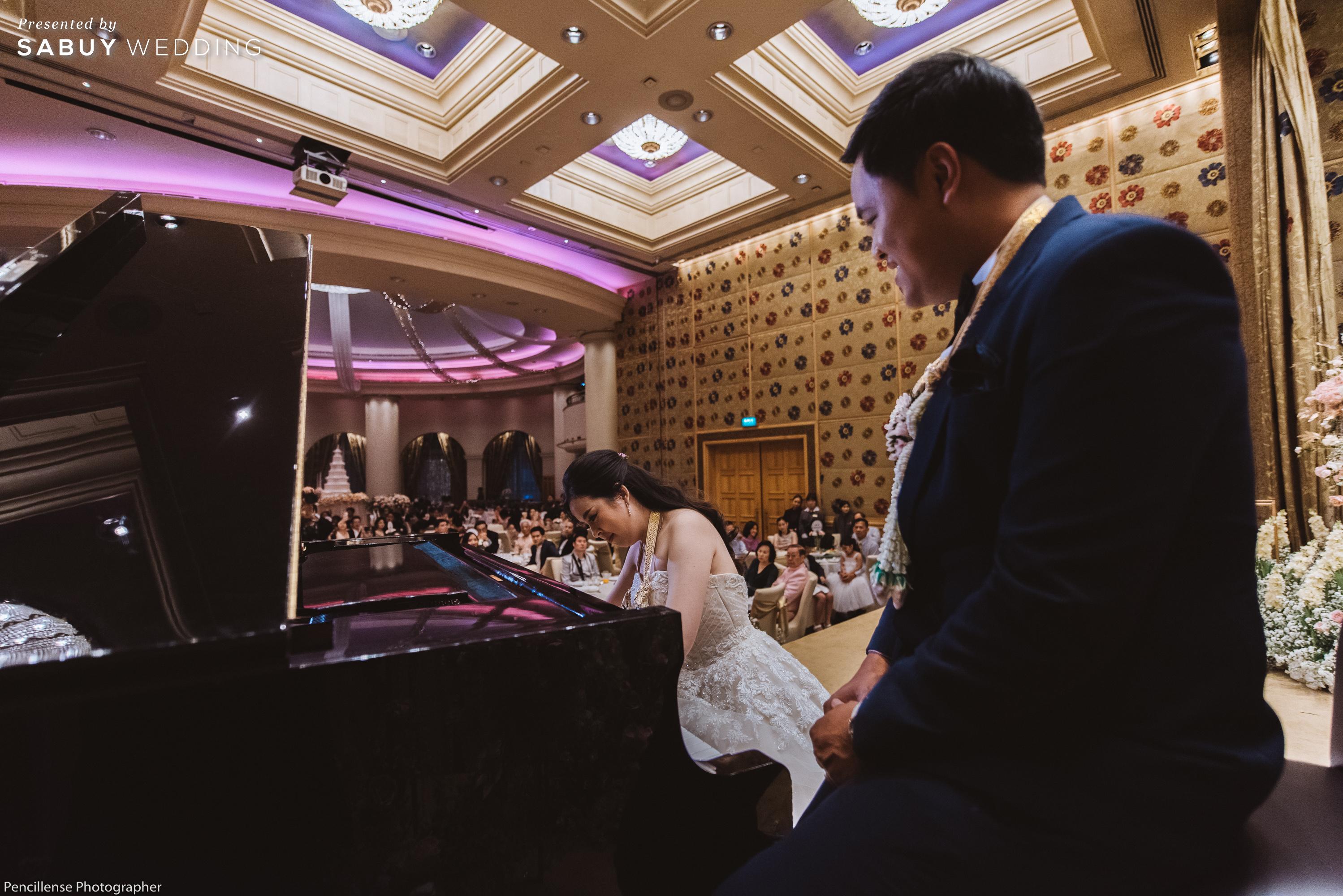 รีวิวงานแต่งโทนชมพู ใช้เปียโนเป็นกิมมิคหลัก สร้างความประทับใจ @Sheraton Grande Sukhumvit