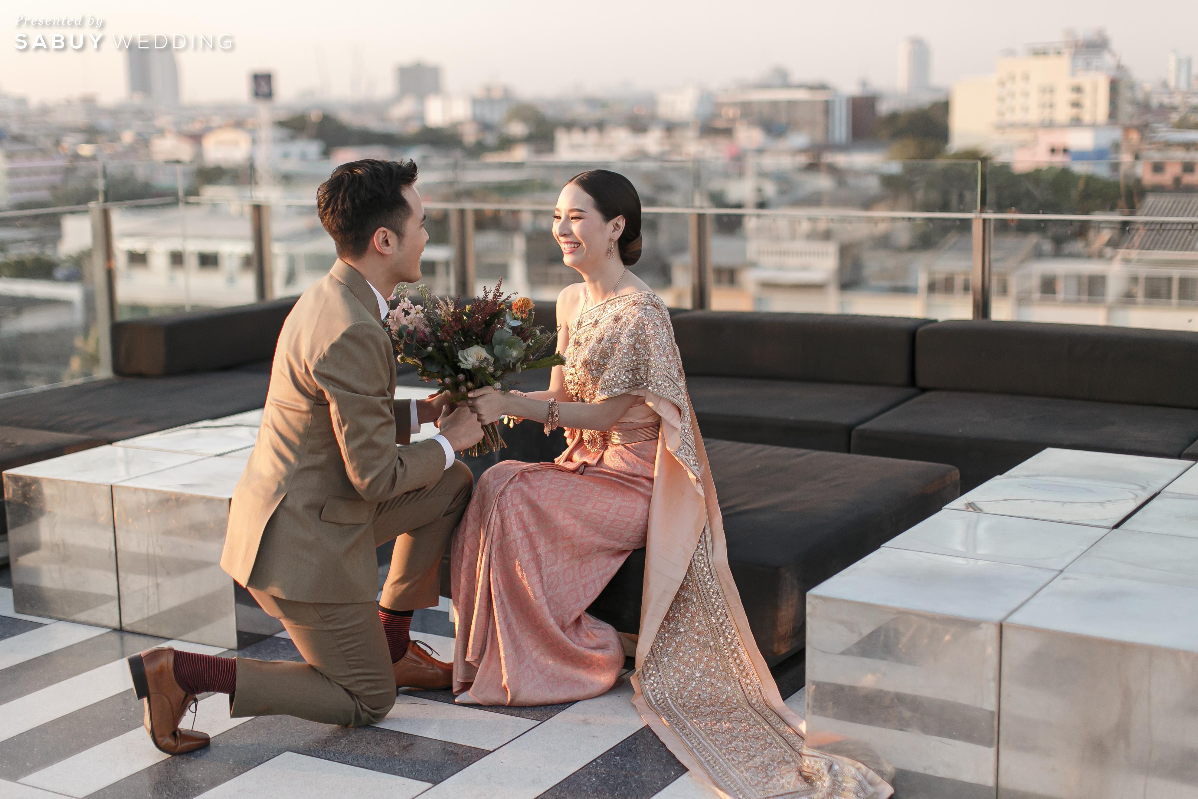 รีวิวงานแต่งอบอุ่นสไตล์ Tropical ปาร์ตี้สนุกบน Rooftop @ Hotel Once Bangkok