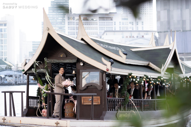 เจ้าบ่าว,สถานที่จัดงานแต่งงาน รีวิวงานแต่งริมน้ำชวนฝัน สวยอลังการ ได้งานครบทุกพิธี @The Peninsula Bangkok