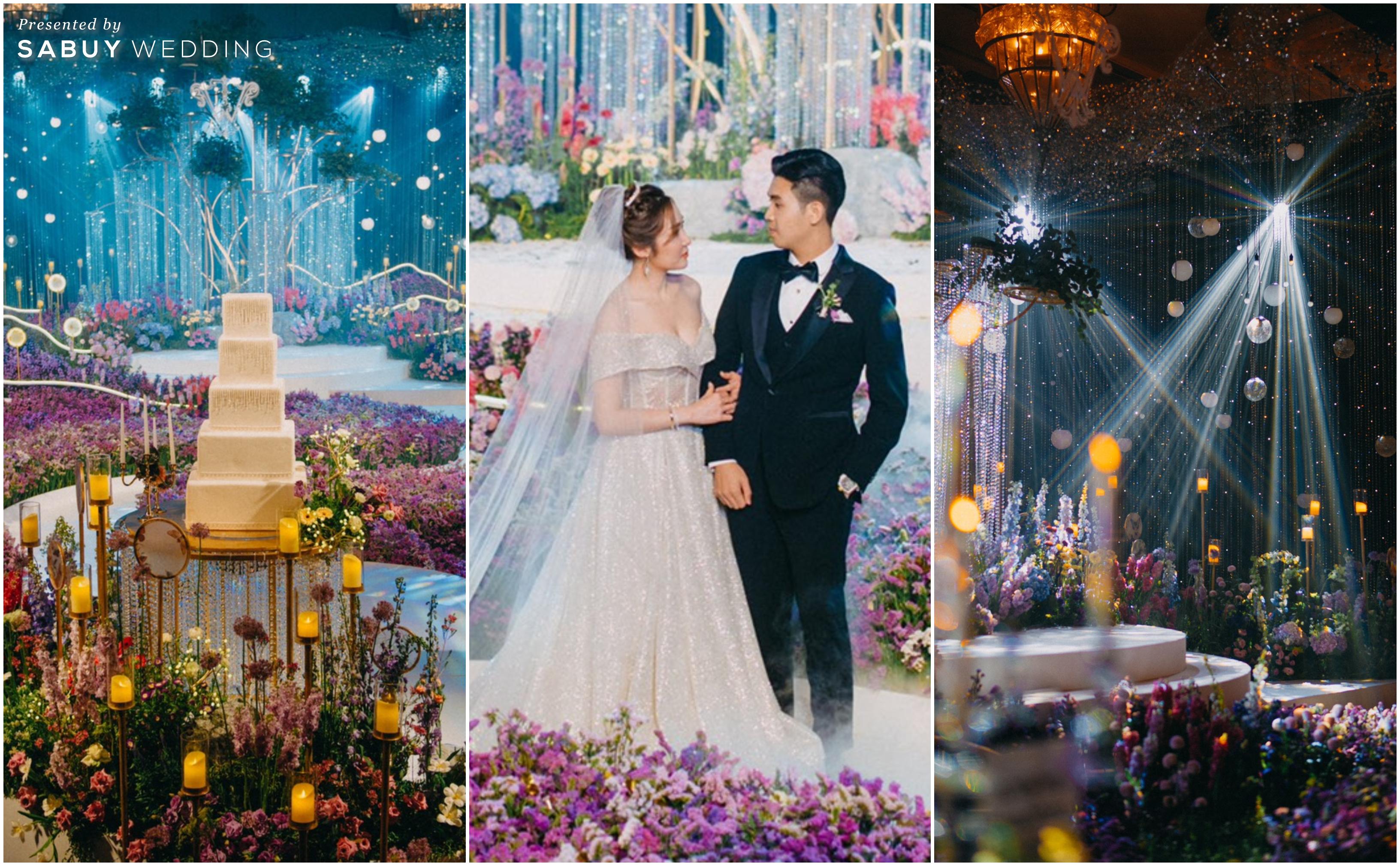 รีวิวงานแต่งสวยปัง สุดอลังด้วยสวนดอกไม้และคริสตัล @ Waldorf Astoria Bangkok