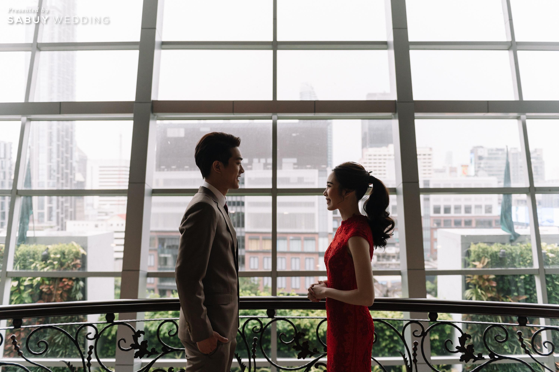 สถานที่จัดงานแต่งงาน รีวิวงานแต่งเช้าเลี้ยงเย็นไซส์ใหญ่ จัดงานสุดเซอร์ไพรส์ได้ใจแขก @ The Berkeley Hotel Pratunam