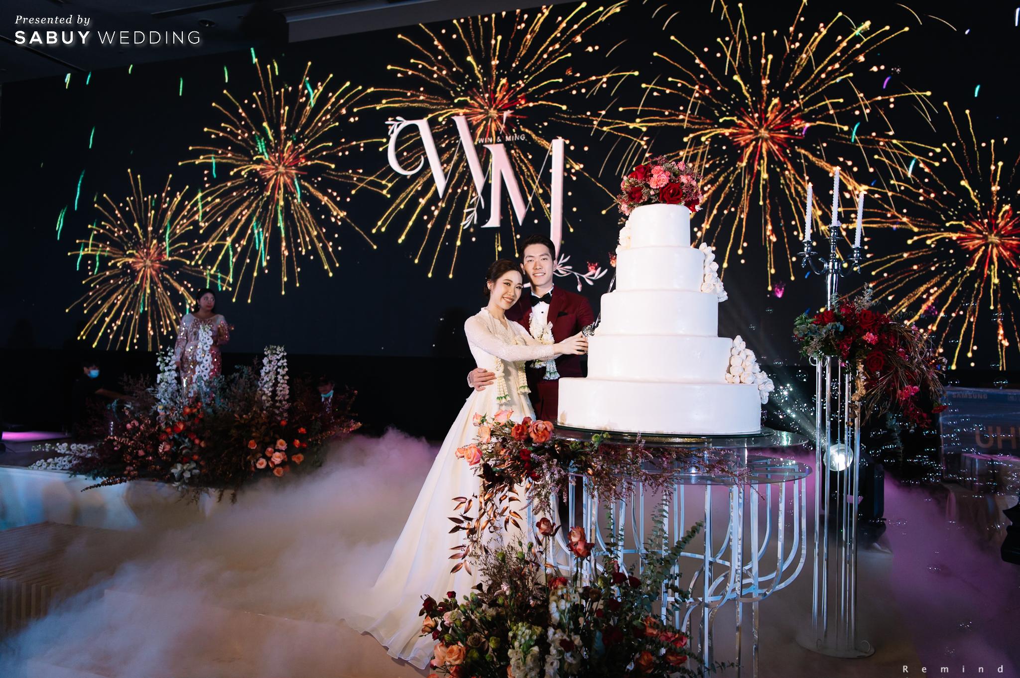 เค้กแต่งงาน รีวิวงานแต่งเช้าเลี้ยงเย็นไซส์ใหญ่ จัดงานสุดเซอร์ไพรส์ได้ใจแขก @ The Berkeley Hotel Pratunam